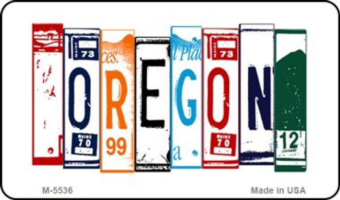 Oregon License Plate Art Wholesale Novelty Metal Magnet M-5536