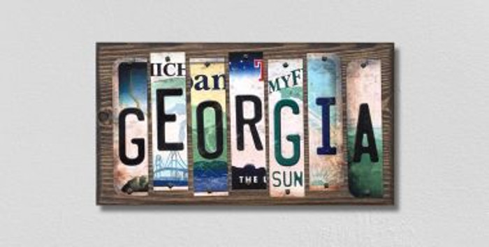 Georgia License Plate Strips Wholesale Novelty Wood Signs WS-162