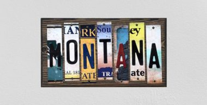 Montana License Plate Strips Wholesale Novelty Wood Signs WS-176