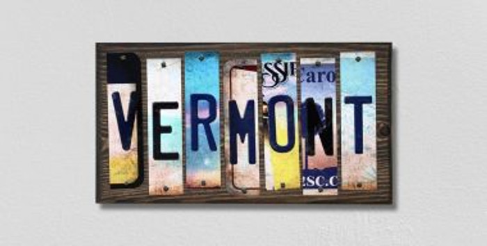Vermont License Plate Strips Wholesale Novelty Wood Signs WS-195