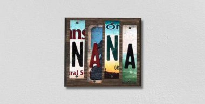 Nana License Plate Strips Wholesale Novelty Wood Signs WS-207