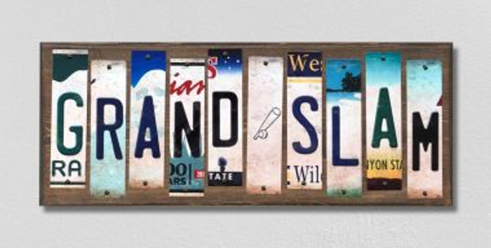 Grand Slam License Plate Strips Wholesale Novelty Wood Signs WS-218