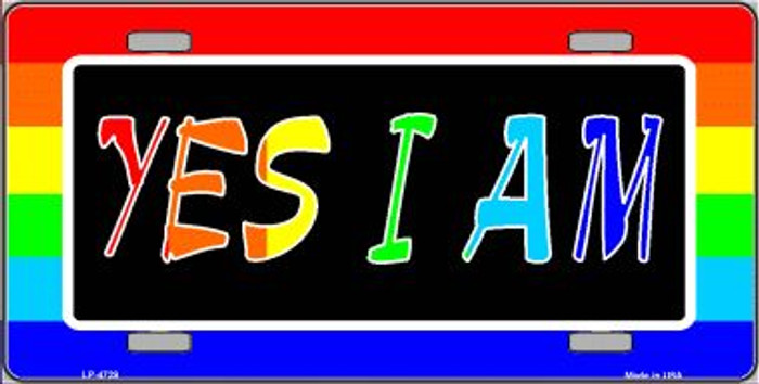 Yes I Am Wholesale Metal Novelty License Plate LP-4729