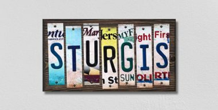 Sturgis License Plate Strips Wholesale Novelty Wood Signs WS-235