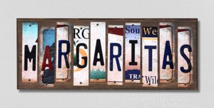 Margaritas License Plate Strips Wholesale Novelty Wood Signs WS-264