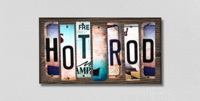 Hot Rod License Plate Strips Wholesale Novelty Wood Signs WS-289