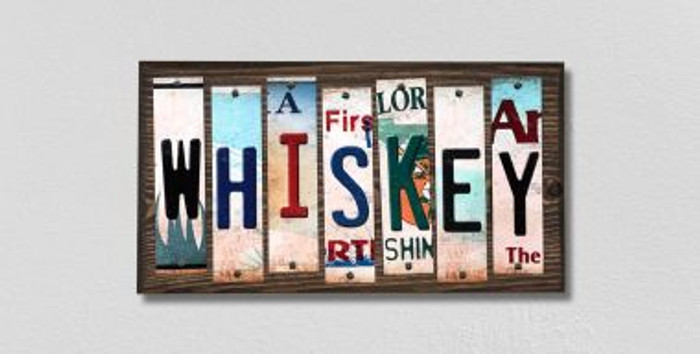 Whiskey License Plate Strips Wholesale Novelty Wood Signs WS-299