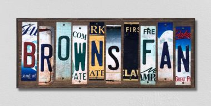 Browns Fan Wholesale Novelty License Plate Strips Wood Sign WS-331