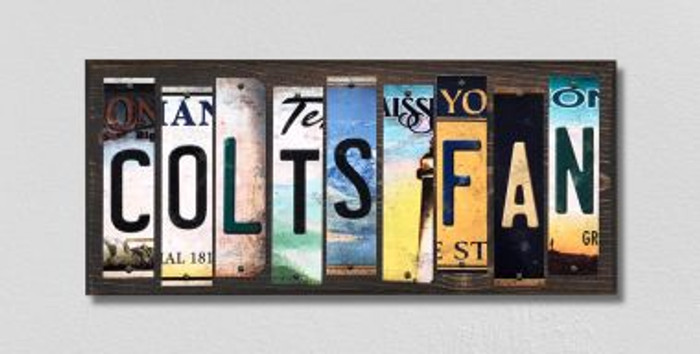 Colts Fan Wholesale Novelty License Plate Strips Wood Sign WS-350