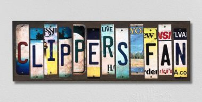 Clippers Fan License Plate Strips Wholesale Novelty Wood Signs WS-376