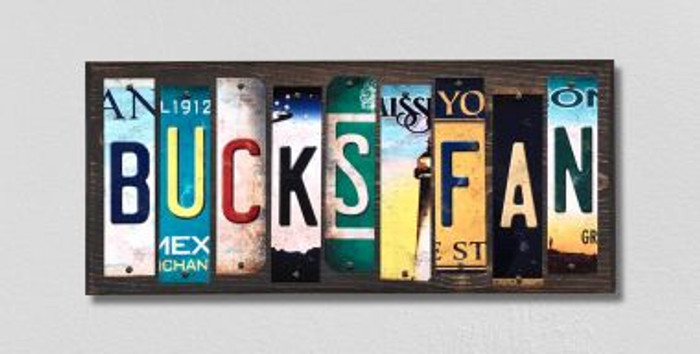 Bucks Fan License Plate Strips Wholesale Novelty Wood Signs WS-378
