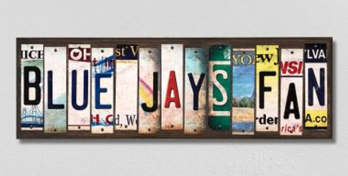 Blue Jays Fan License Plate Strips Wholesale Novelty Wood Signs WS-394