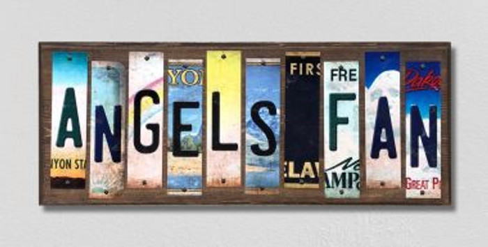 Angels Fan Wholesale Novelty License Plate Strips Wood Sign WS-397