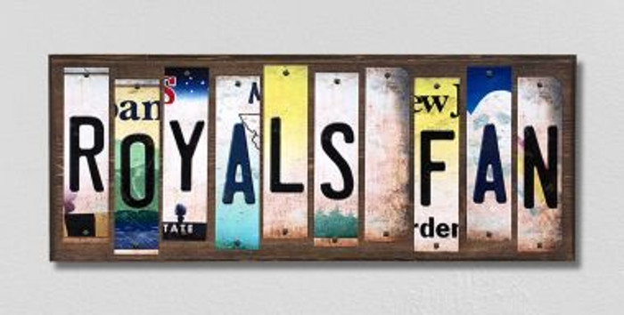 Royals Fan Wholesale Novelty License Plate Strips Wood Sign WS-408