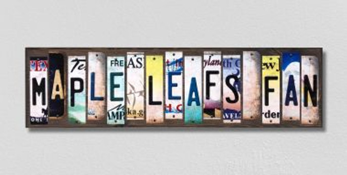 Maple Leafs Fan License Plate Strips Wholesale Novelty Wood Signs WS-421