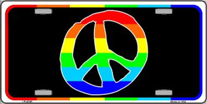 Peace Sign Wholesale Metal Novelty License Plate LP-4748