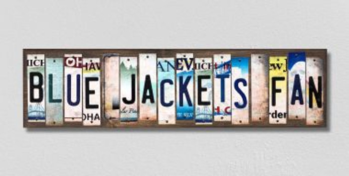 Blue Jackets Fan License Plate Strips Wholesale Novelty Wood Signs WS-441