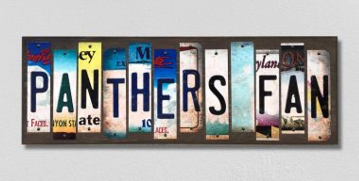 Panthers Fan Wholesale Novelty License Plate Strips Wood Sign WS-444