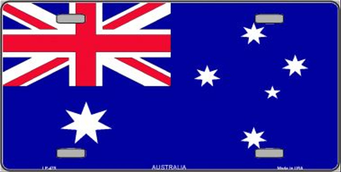 Australia Flag Wholesale Metal Novelty License Plate LP-475