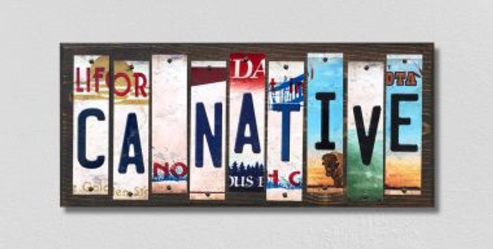 CA Native License Plate Strips Wholesale Novelty Wood Signs WS-506