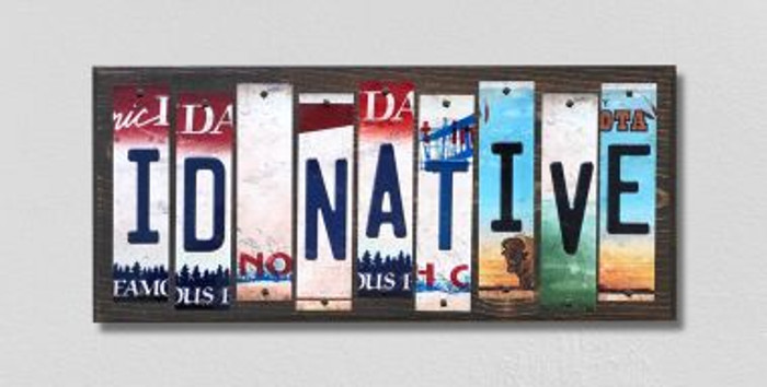 ID Native License Plate Strips Wholesale Novelty Wood Signs WS-513