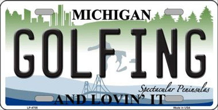 Golfing Michigan State Wholesale Metal Novelty License Plate LP-4755