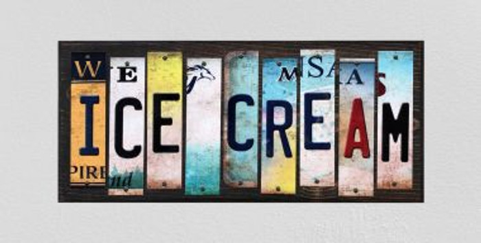 Ice Cream License Plate Strips Wholesale Novelty Wood Signs WS-556