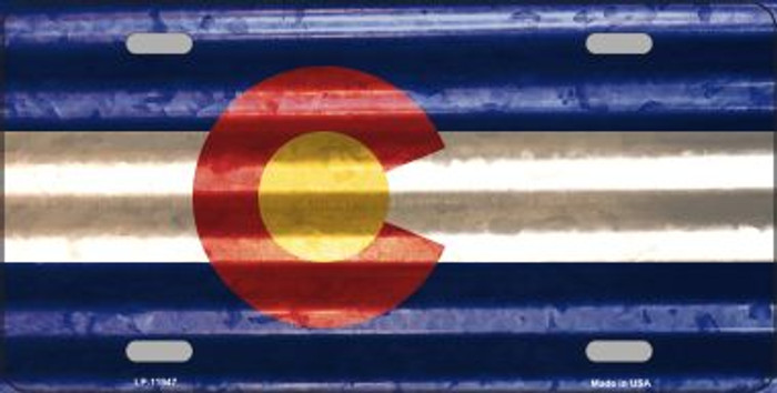 Colorado Corrugated Flag Wholesale Novelty License Plate LP-11947