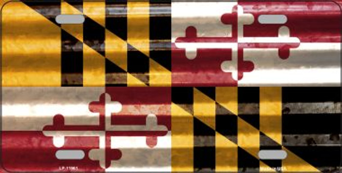 Maryland Corrugated Flag Wholesale Novelty License Plate LP-11961