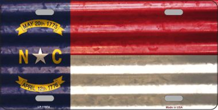 North Carolina Corrugated Flag Wholesale Novelty License Plate LP-11974