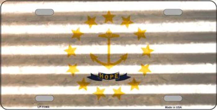 Rhode Island Corrugated Flag Wholesale Novelty License Plate LP-11980