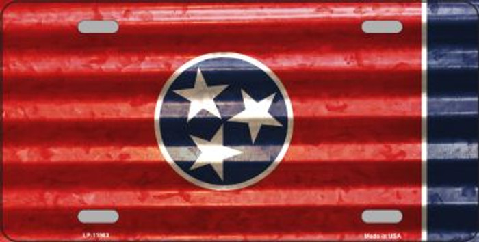 Tennessee Corrugated Flag Wholesale Novelty License Plate LP-11983