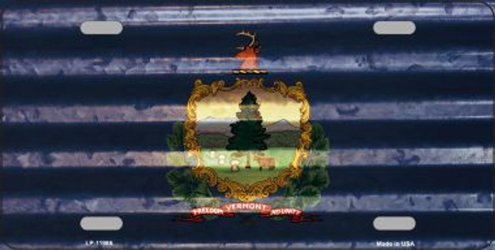 Vermont Corrugated Flag Wholesale Novelty License Plate LP-11986