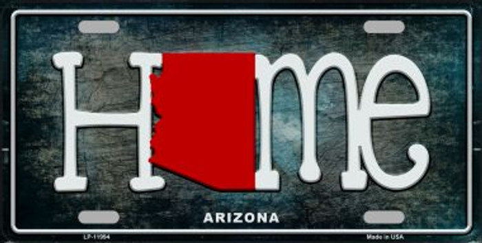 Arizona Home State Outline Wholesale Novelty License Plate LP-11994