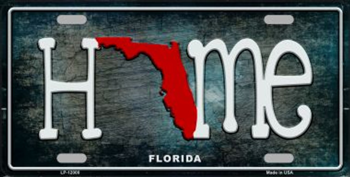Florida Home State Outline Wholesale Novelty License Plate LP-12000
