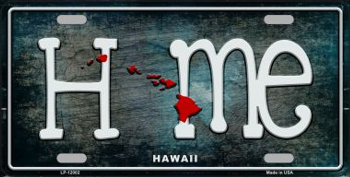 Hawaii Home State Outline Wholesale Novelty License Plate LP-12002