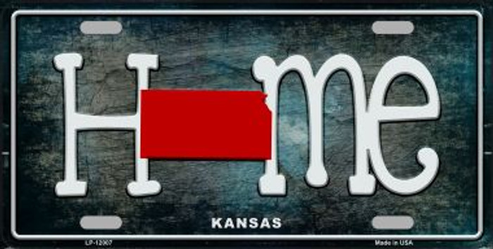Kansas Home State Outline Wholesale Novelty License Plate LP-12007