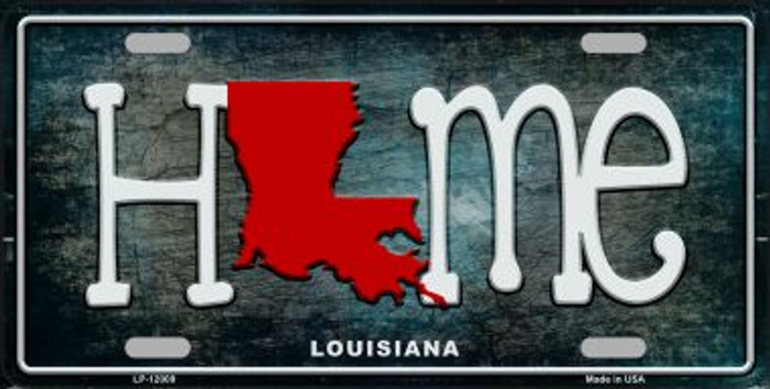 Louisiana Home State Outline Wholesale Novelty License Plate LP-12009