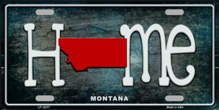 Montana Home State Outline Wholesale Novelty License Plate LP-12017