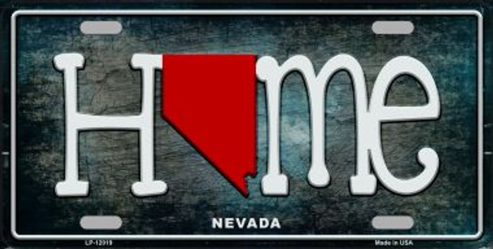 Nevada Home State Outline Wholesale Novelty License Plate LP-12019