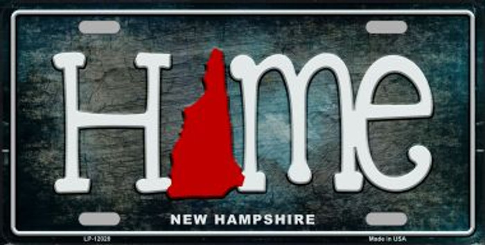 New Hampshire Home State Outline Wholesale Novelty License Plate LP-12020