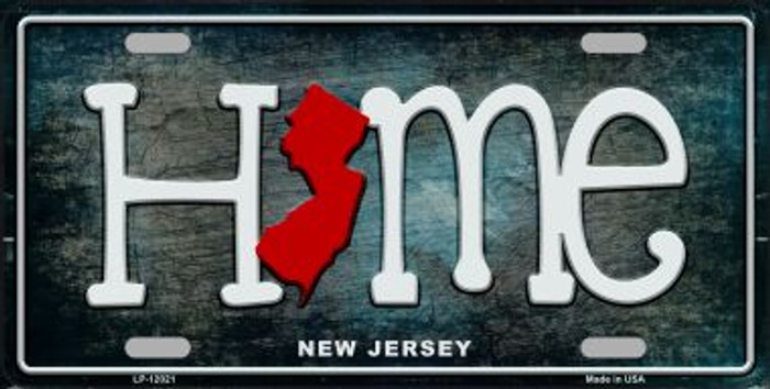 New Jersey Home State Outline Wholesale Novelty License Plate LP-12021