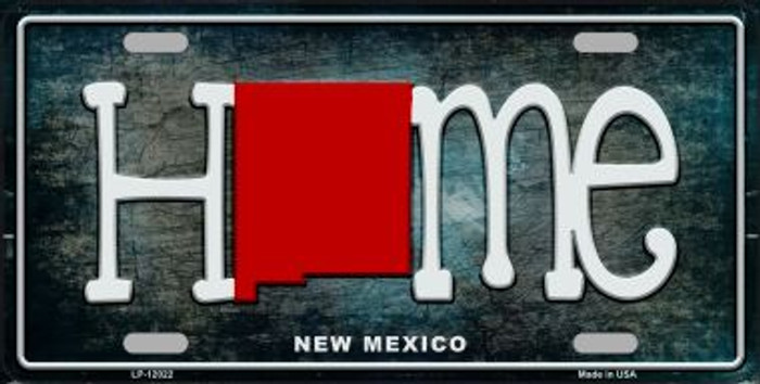 New Mexico Home State Outline Wholesale Novelty License Plate LP-12022