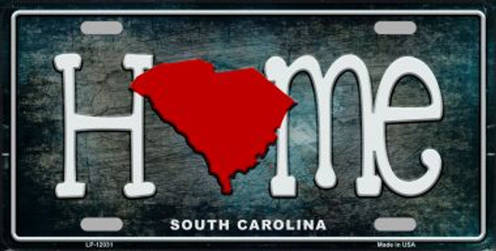 South Carolina Home State Outline Wholesale Novelty License Plate LP-12031