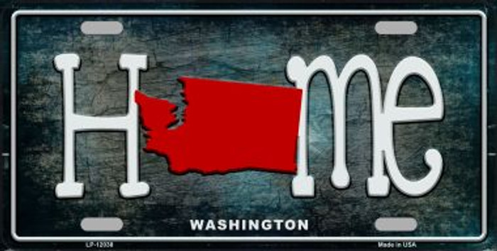 Washington Home State Outline Wholesale Novelty License Plate LP-12038
