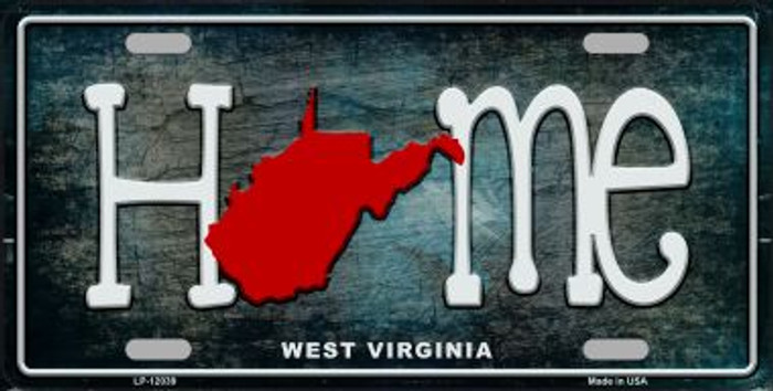 West Virginia Home State Outline Wholesale Novelty License Plate LP-12039