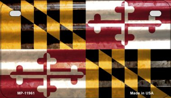 Maryland Corrugated Flag Wholesale Novelty Motorcycle Plate MP-11961