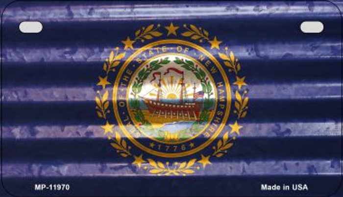 New Hampshire Corrugated Flag Wholesale Novelty Motorcycle Plate MP-11970