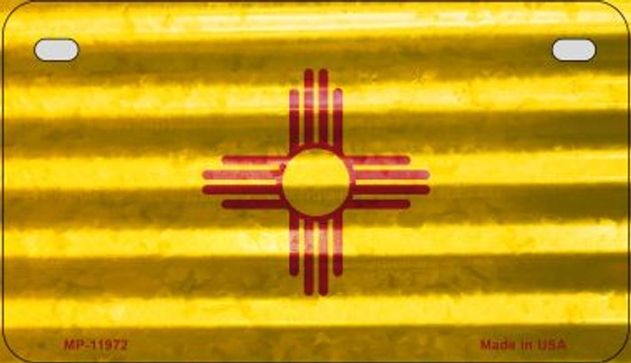 New Mexico Corrugated Flag Wholesale Novelty Motorcycle Plate MP-11972