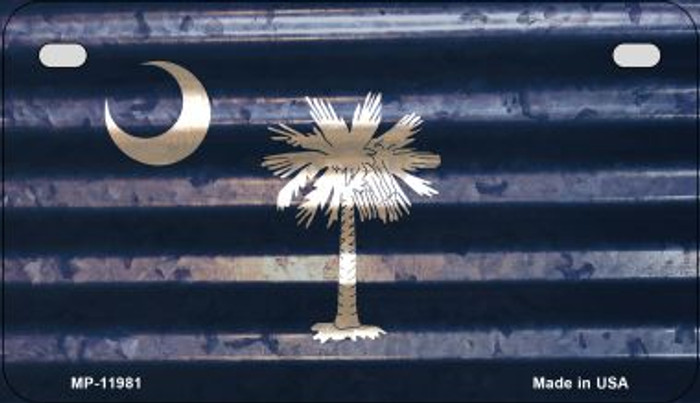 South Carolina Corrugated Flag Wholesale Novelty Motorcycle Plate MP-11981